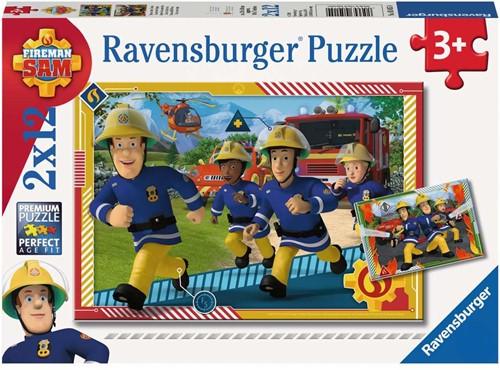 Ravensbuger Puzzel 2 x 12 stukjes FS: Sam en zijn team