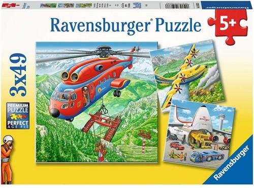 Ravensbuger Puzzel 3x49 stukjes Boven de wolken