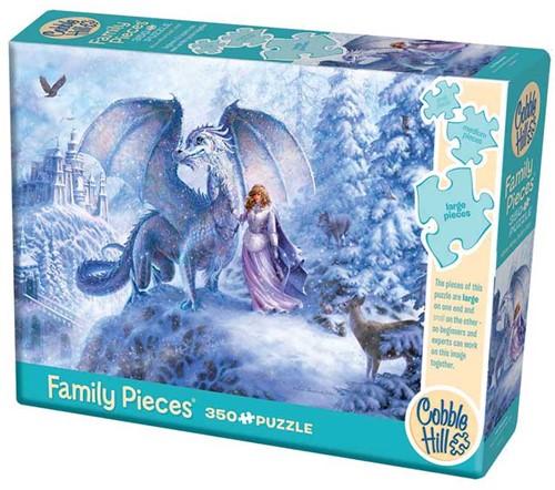 Cobble Hill Familie puzzle 350 Teile - Ice Dragon