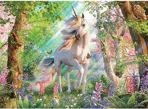 Cobble Hill puzzle 500 Teile - Unicorn in the Woods