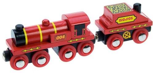 BigJigs Holzeisenbahn Große Rote Lokomotive