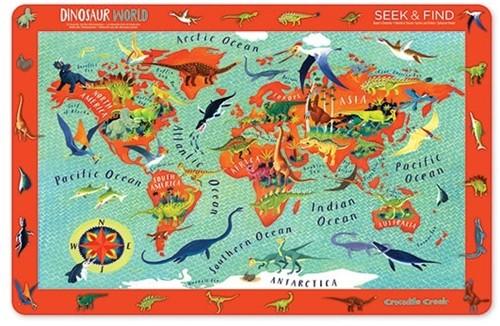 Crocodile Creek Placemats/Dinosaur World (6 pcs)