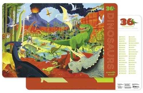 Crocodile Creek Placemats/36 Dinosaurs (6 pcs)