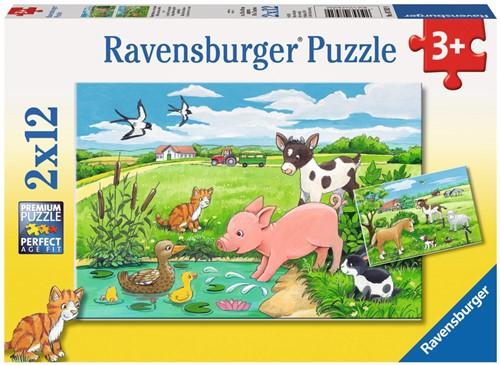 Ravensburger Kinderpuzzle - Tierkinder auf dem Land