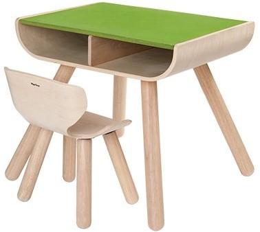 Plan Toys  Holz Kindermöbel Tisch & Stuhl Grün