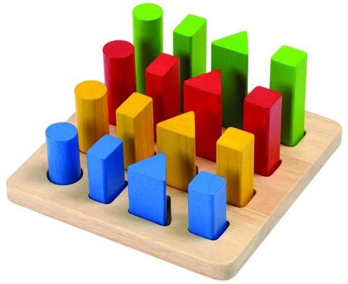 Plan Toys Holz Lernspiel Geometrisches Pflock Brett