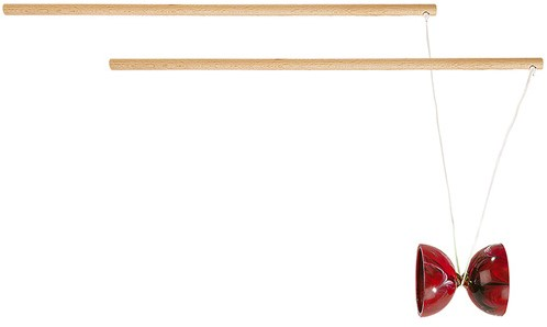 "Diabolo ""Junior"" Holz Rot (Made In France)"