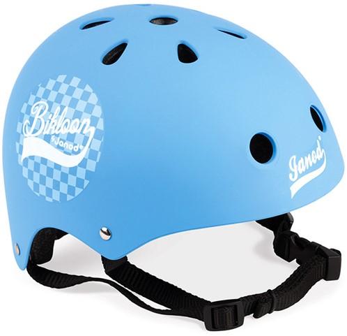 Bikloon Helm Blau Kariert