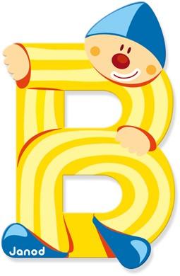 """Buchstabe """"Clown"""" B"""