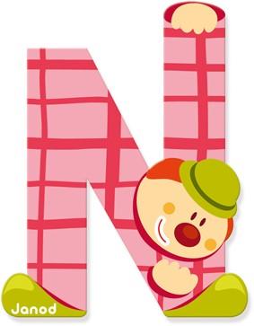 """Buchstabe """"Clown"""" N"""