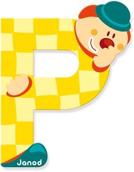 "Buchstabe ""Clown"" P"