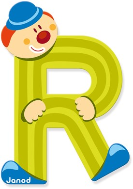 """Buchstabe """"Clown"""" R"""
