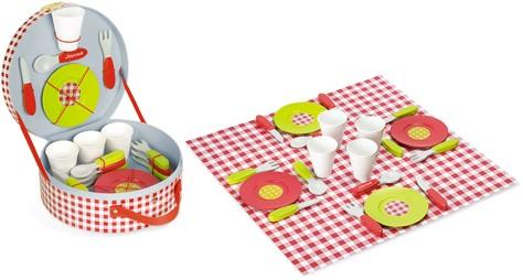 Picknick-Koffer Mit Zubehör (Inhalt 21 Teile)