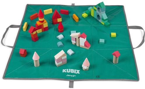 Kubix - 120 Bausteine Holz Mit Spieltasche