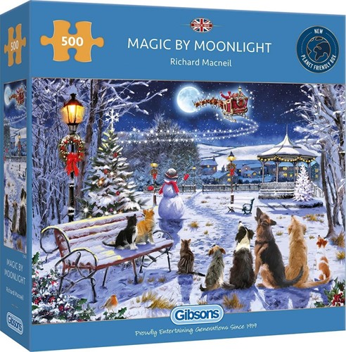 Gibsons Puzzle Magic by Moonlight - 500 Teile