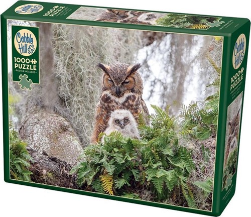 Cobble Hill puzzle 1000 Teile - Great Horned Owl