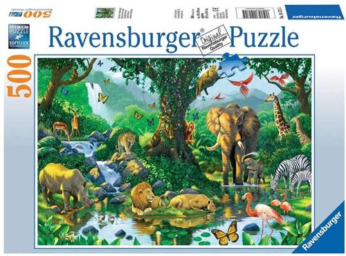 Ravensbuger Puzzel 500 stukjes Jungle Harmony