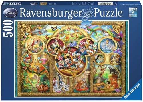 Ravensbuger Puzzel 500 stukjes Disney familie