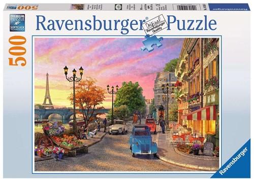 Ravensbuger Puzzel 500 stukjes Avondsfeer in Parijs