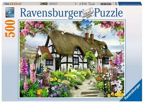 Ravensburger Puzzle - Verträumtes Cottage - 500 Teile