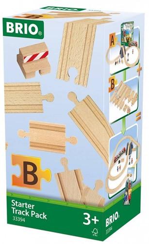 Brio Holz Eisenbahn Schienen BRIO Schienen Starter Pack B 33394-2