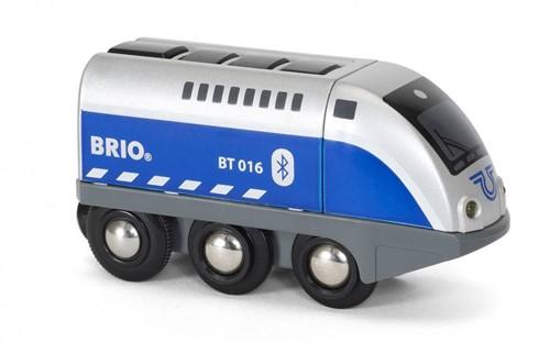 Brio Holz Eisenbahn Batterielok Blauer Oskar mit APP Steuerung 33863
