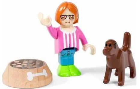 Brio Spielstadt Figuren Village Kind mit Hund 33952