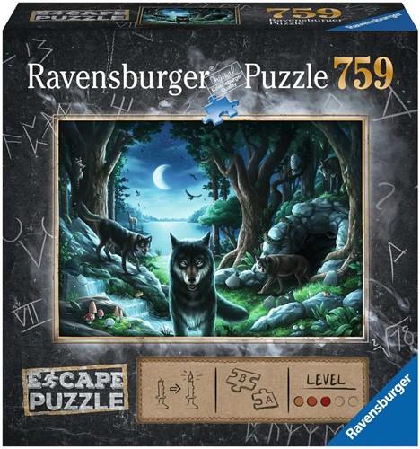 Ravensbuger Puzzel Escape the room puzzels ESCAPE 7 Curse of the Wolves 759 pcs.
