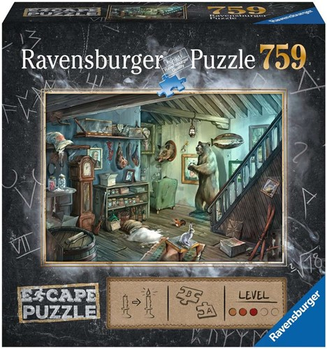 Ravensbuger Puzzel Escape the room puzzels ESCAPE 8 Forbidden Basement 759 pcs.
