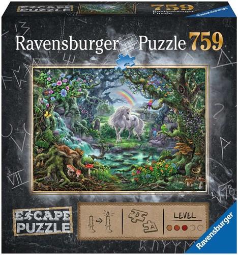 Ravensbuger Puzzel Escape the room puzzels ESCAPE 9 Unicorn 759 pcs.