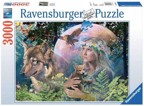 Ravensburger Wolven in de maneschijn Puzzlespiel 3000 Stück(e)