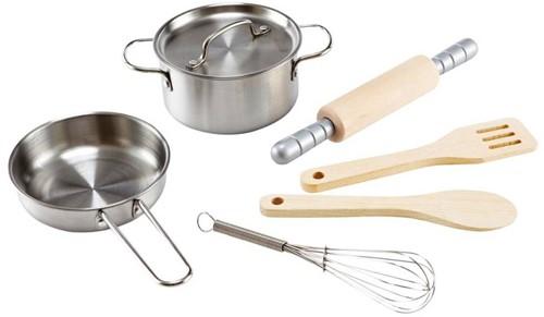 Hape Holzküche Zubehör Kochset