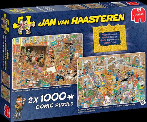 Jumbo puzzel Jan van Haasteren Kerstkoopjes & Black Friday (2x1000)