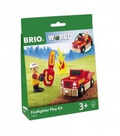 BRIO Holz Eisenbahn Spielpäckchen Feuerwehr