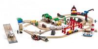 Brio Holz Eisenbahn Set Großes BRIO Premium Set in Kunststoffboxen 33766-2