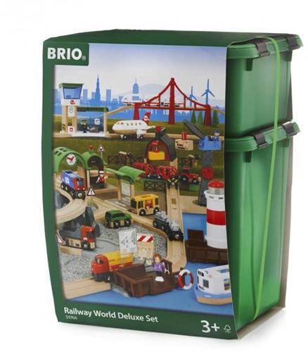 Brio Holz Eisenbahn Set Großes BRIO Premium Set in Kunststoffboxen 33766-3
