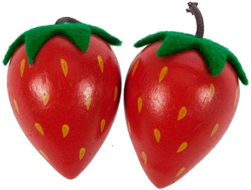 BigJigs Holzkücke Zubehör Erdbeere, Stück