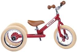 Trybike Laufrad 2-in-1 Stahl - Altmodisch Rot
