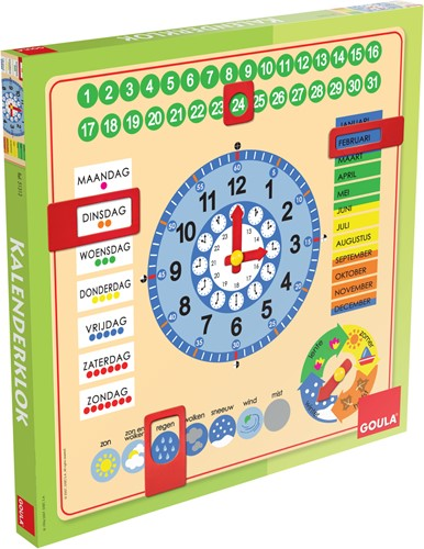 Goula Kalenderklok NL (vierkant)