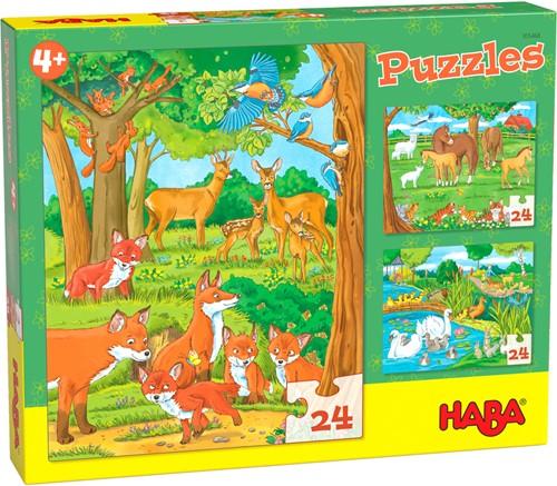 HABA Puzzles Tierfamilien