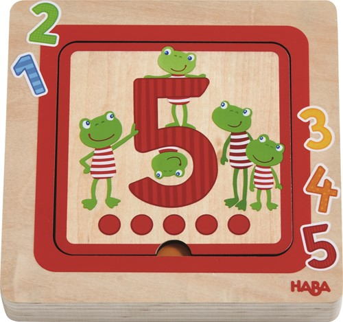HABA Holzpuzzle Zahlenfreunde