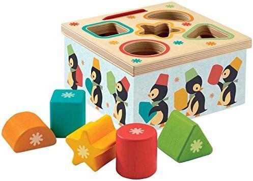 ISBN Geo Junzo Formen-Sortierbox Pinguin Djeco 06409 ab 18 M.