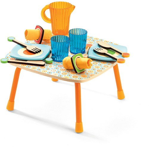 Djeco Holzküche Zubehör Gabys Lunch Set