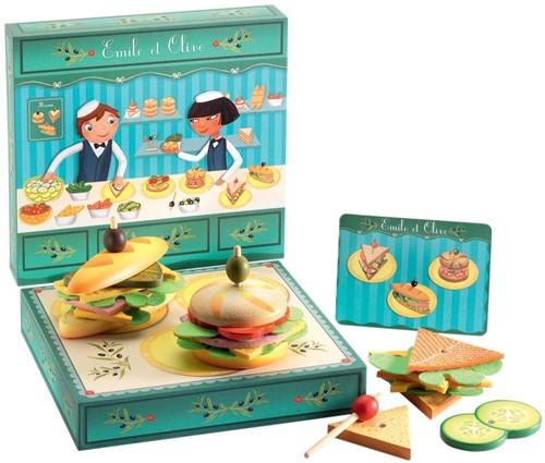 Djeco Holzküche Zubehör Lunchroom von Emile und Olive