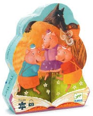 Djeco Les trois Petits cochons - 24 pcs