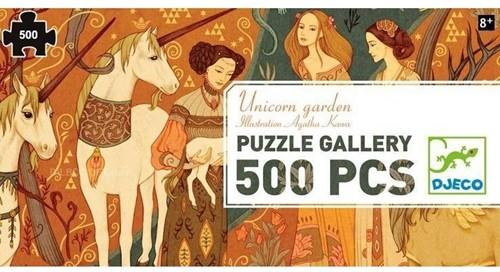 Djeco Puzzles Gallery Unicorn garden - 500 pcs - FSC MIX
