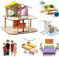 Djeco houten poppenhuis Colour House-2