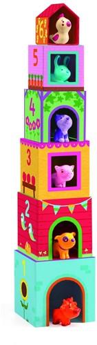 Djeco stapelblokken met figuren Topanifarm-3