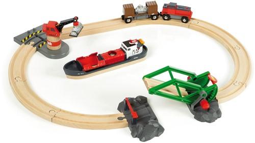 Brio Holz Eisenbahn Set Container Hafen Set 33061