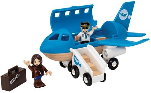 Brio Holz Eisenbahn Zubehör Blaues Flugzeug 33306